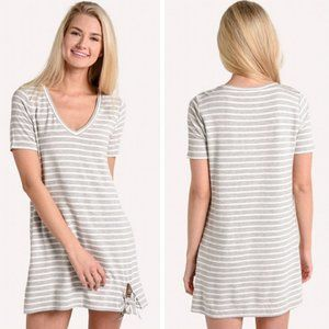 ANTHRO BB DAKOTA Striped T-shirt Dress